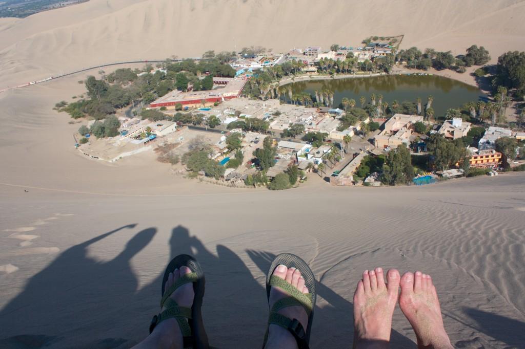 Feet over Huacachina