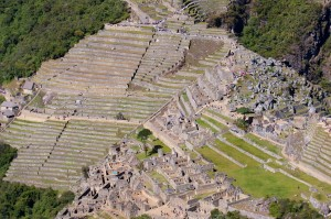 Machu Picchu as viewed from the nearby peak, Huayna Picchu