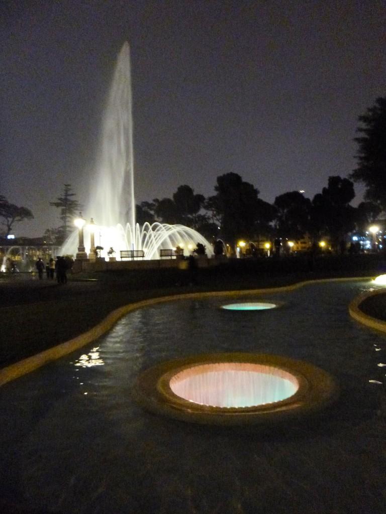 Magic fountain in Lima