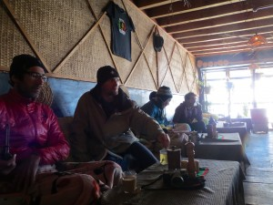 Some of our cohorts relaxing in the Bob Marley.