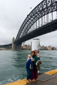 Hugs under the harbor bridge
